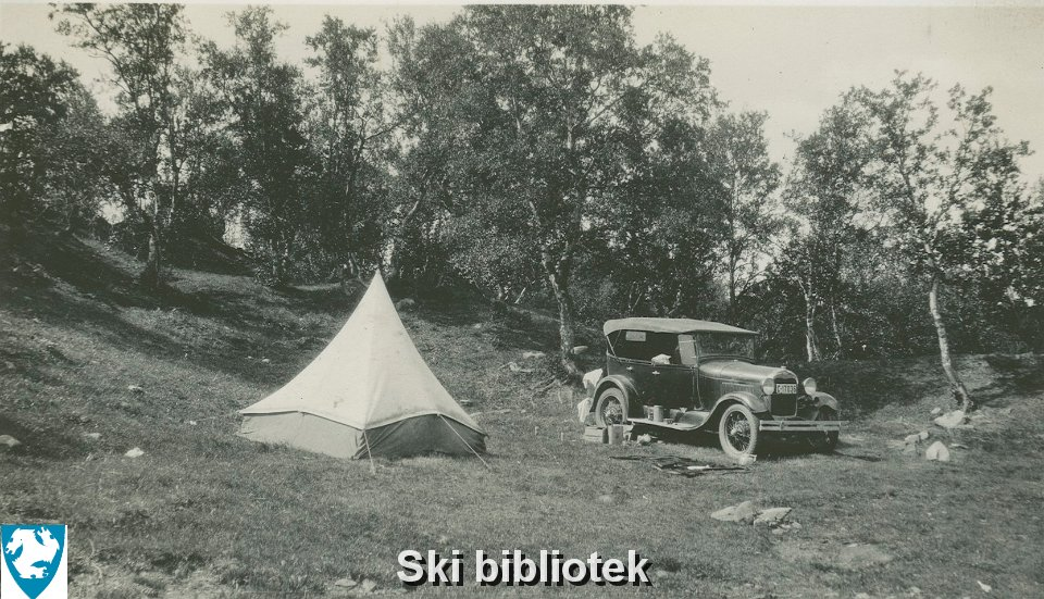 Camping ved Dovre, 1934.